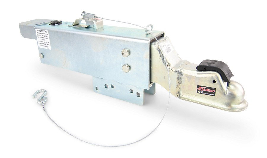 "Demco Hydraulic Surge Actuator for Disc Brakes 16000lb Capacity with Electric Lockout Solenoid 2 5/16"" Ball"