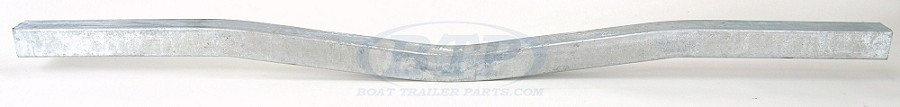 Galvanized Boat Trailer Cross Member 85 inch V Bend Frame Mount
