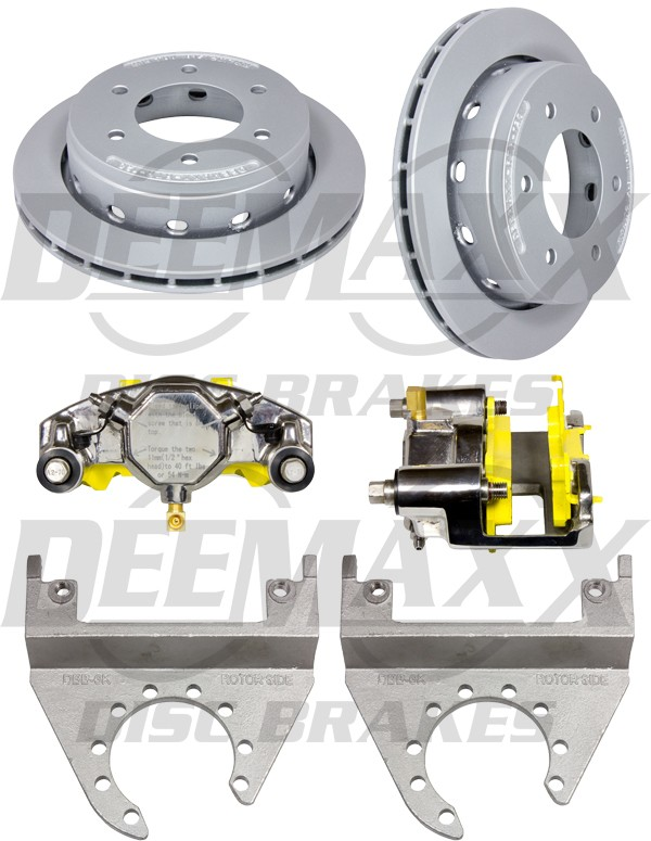6 Lug DEEMAXX Stainless Steel Calipers with Maxx Coated Rotors