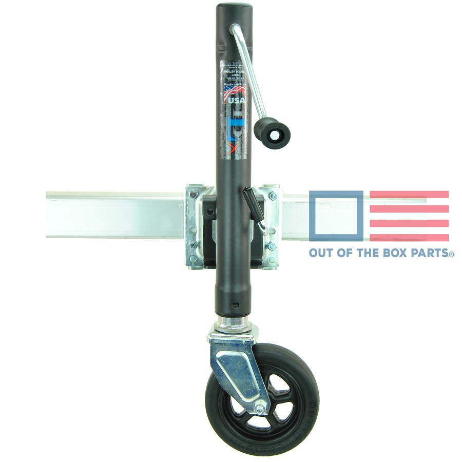 Boat Trailer Jack DLX 1500lb Capacity Swivel Style Bolt On