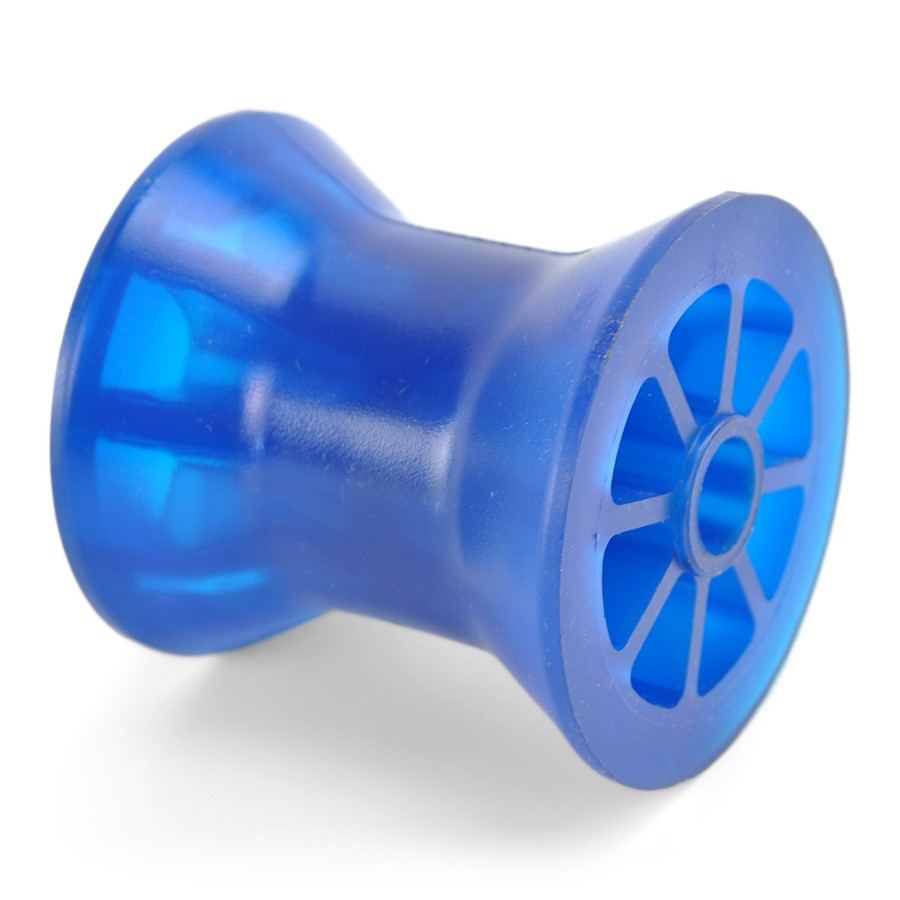 3 inch Bow Roller Blue PVC Polyvinyl for Boat Trailer Winch Post