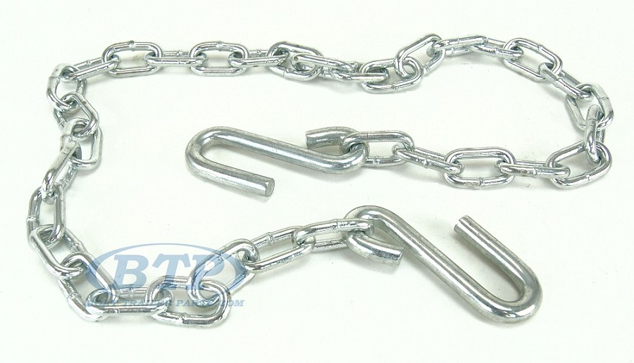 Boat Trailer Safety Chain Zinc Plated 8/0 Thickness 48 inch 7,000lb Dual Hook