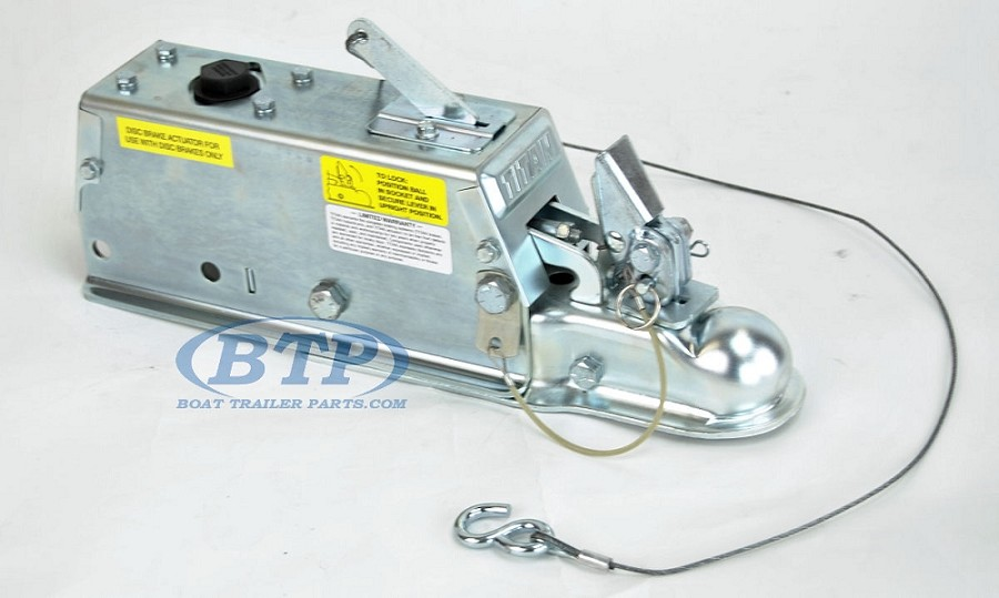 Titan Model 60 Hydraulic Boat Trailer Disc Brake Surge Coupler Actuator 7,000lb Lever Lock