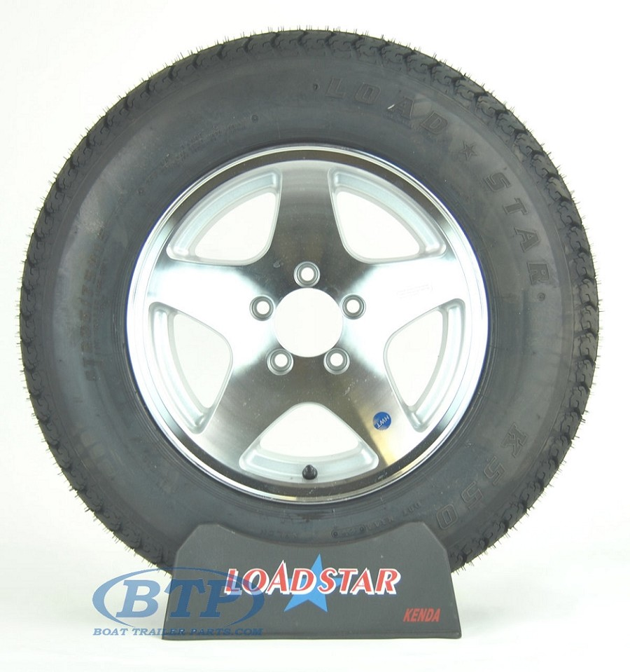 Boat Trailer Tire ST205/75D15 on 5 Star Wheel 5 Lug by Loadstar